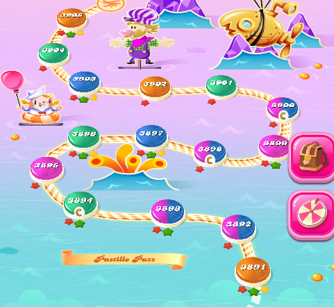 Candy Crush Saga level 3891-3905