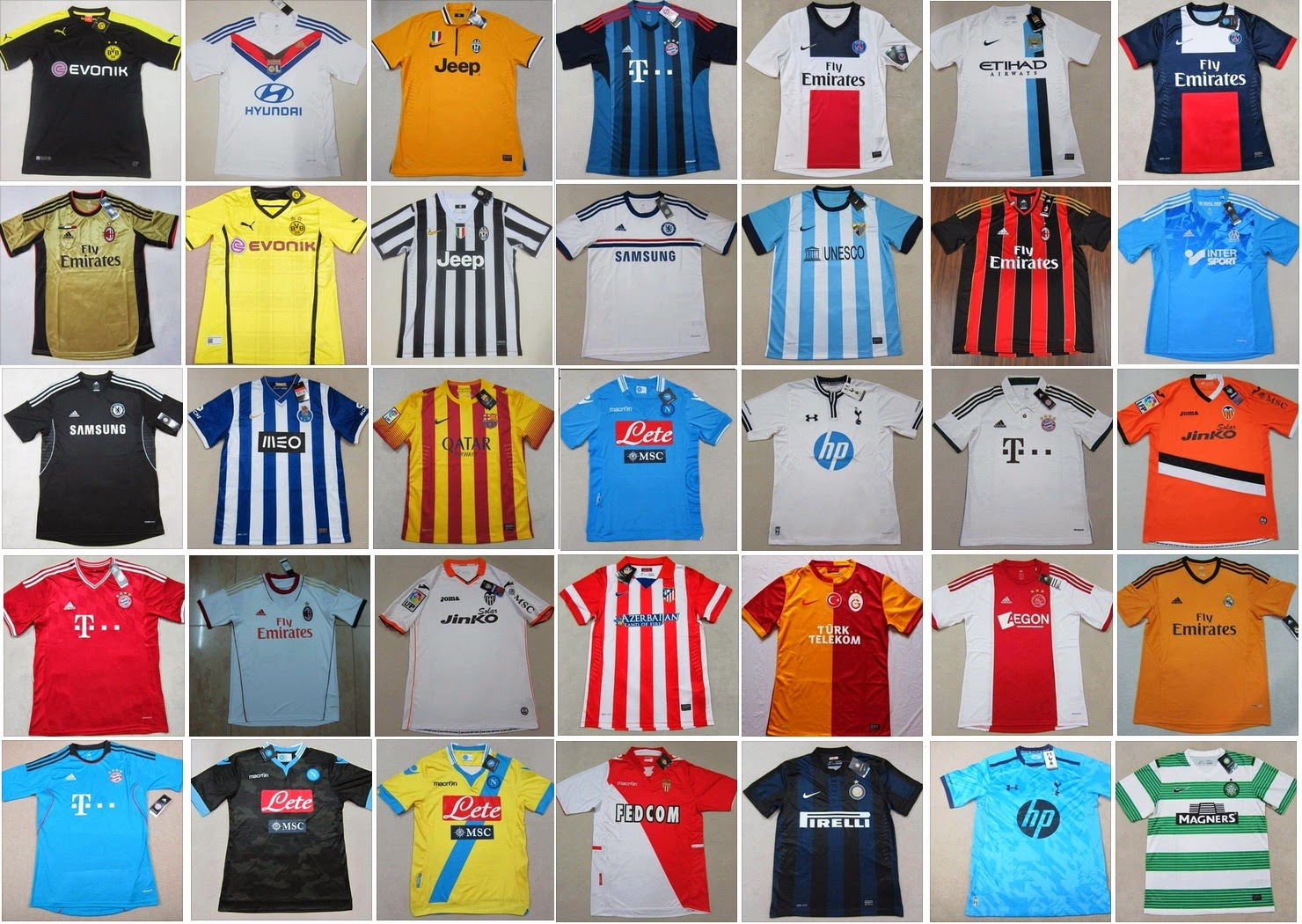 ececfbfd3fcfa Estamos vendiendo las camisetas de los equipos del fútbol europeo