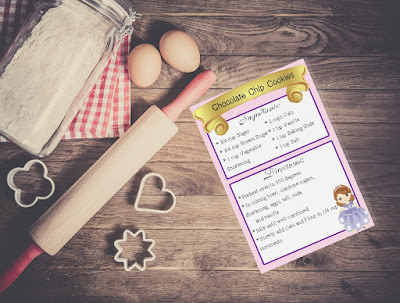 Organize yourself with these pretty printable recipe cards.  This princess printable is a free printable available in 3 different sizes, so you'll have an organized kitchen and a beautiful home.