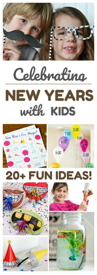 30+ FUN WAYS TO CELEBRATE THE NEW YEAR WITH KIDS : activities, crafts, & more!  #newyearsevecraftsforkids #newyearseveactivitiesforkids