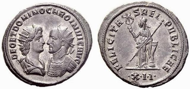Aureliniano del emperador romano Caro - siglo III d.C.