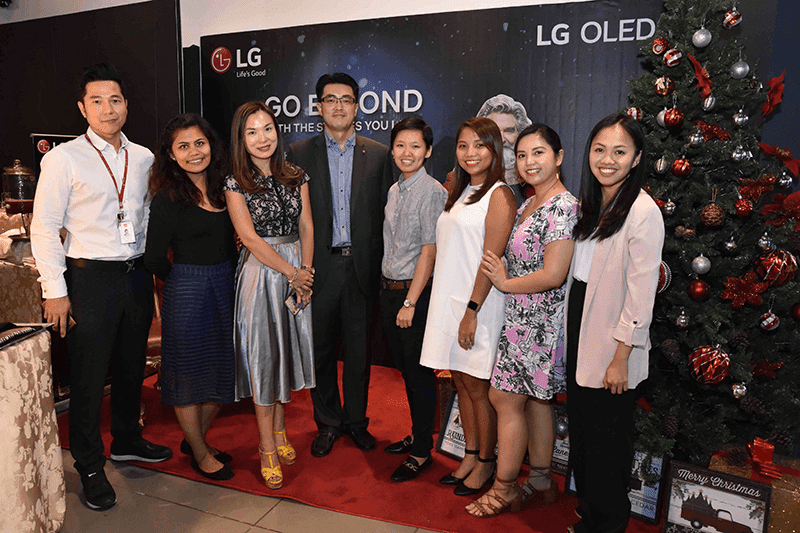 The partnership was launched during a roadshow to showcase the LG B8 OLED TV