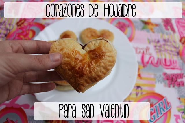 diy corazones de hojaldre y nutella para regalo de san valentin