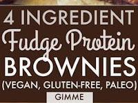 4 Ingredient Fudge Protein Brownies (Vegan, Gluten-free, Paleo)