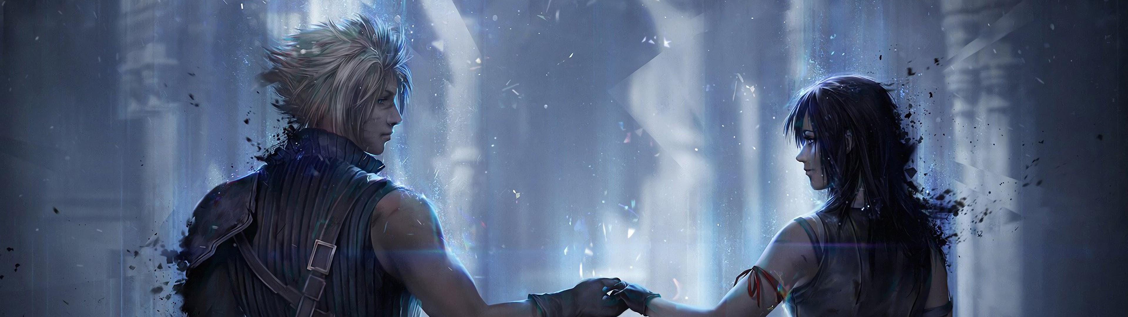 Cloud Strife Tifa Lockhart Final Fantasy 7 Remake 4k Wallpaper 33