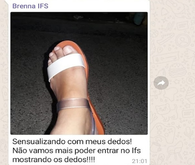 Aluna do IFS é impedida de entrar na instituição por estar mostrando os pés
