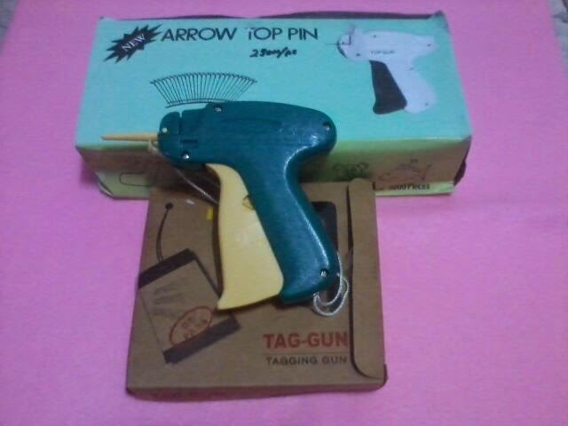 tag gun, top pin,