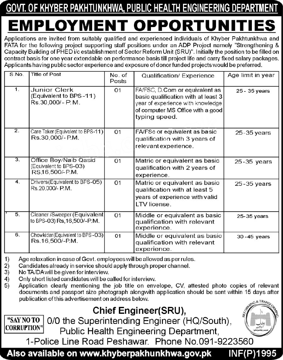 jobs in public health engineering department 3 may 2017