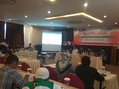 KPU Pringsewu Gelar Rapat Pleno Terbuka Penetapan DPS Pemilu 2019
