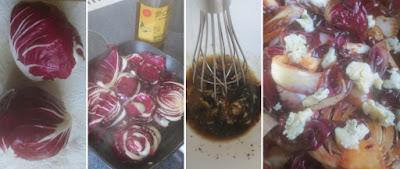 Zubereitung Gegrillter Radicchio mit Gorgonzola-Balsamico-Vinaigrette