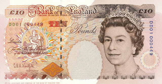 British Bank Notes‎ 10 Pound Sterling note 1993 Queen Elizabeth II