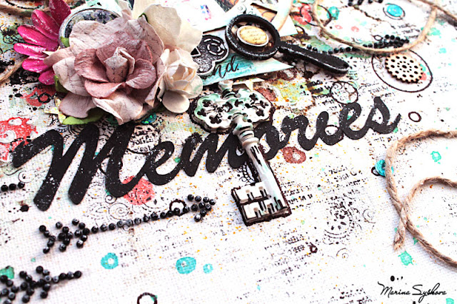 @marinasyskova #scrap #scrapbooking #mixedmedia #canvas