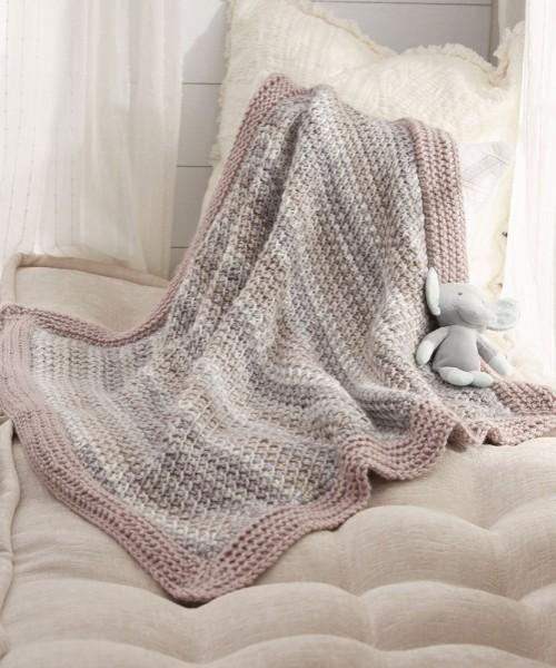 Tunisian Peek-a-Boo Baby Blanket - Free Pattern