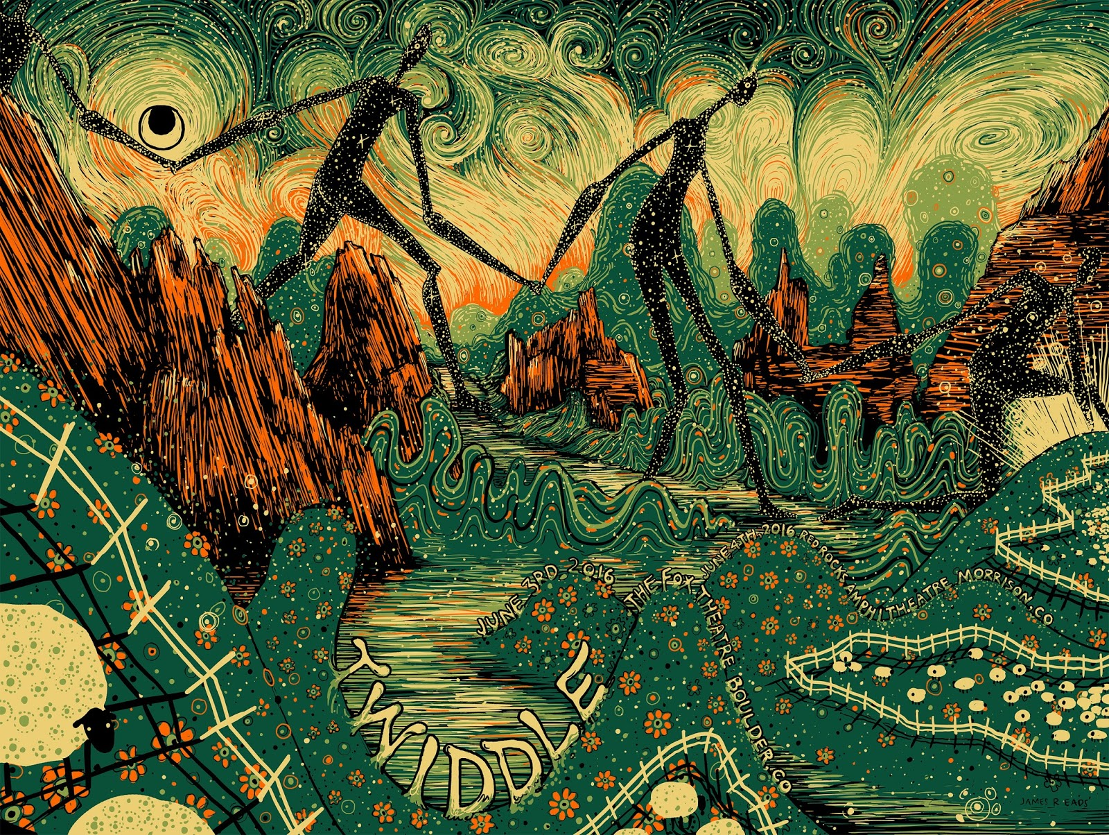 Inside the rock poster frame blog james eads twiddle for Poster psichedelici