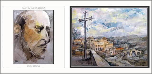 SANT IGNASI DE LOIOLA-ART-PINTURA-MANRESA-ARTE-SAN IGNACIO DE LOYOLA-COVA-MISTICA-CUADROS-ARTISTA-PINTOR-ERNEST DESCALS