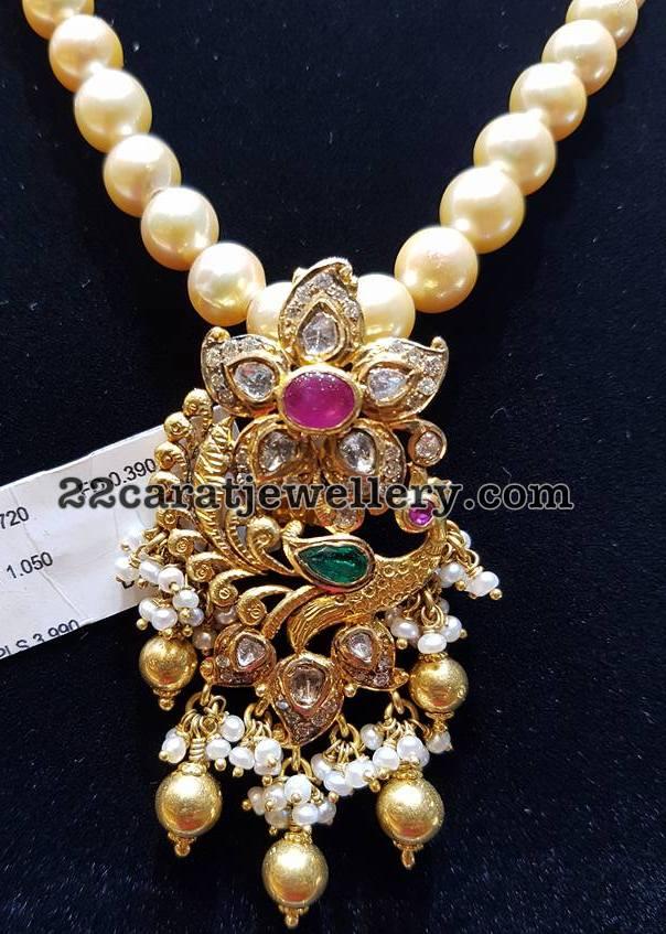 Pachi Work and Diamond Pendants