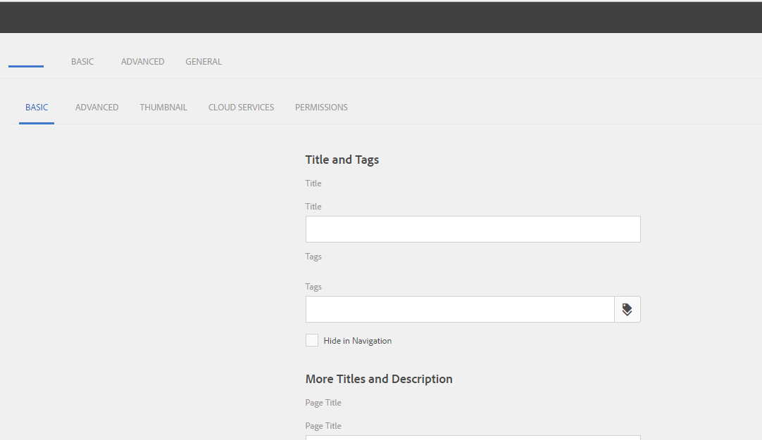 Aem Page Properties Touch Ui Dialog Conversion Issue