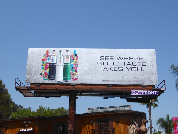 Effen Vodka where good taste takes you billboard