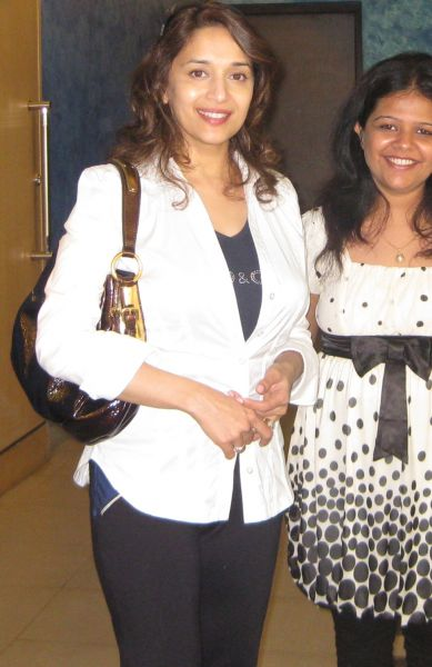 Madhuri Dixit With Fan