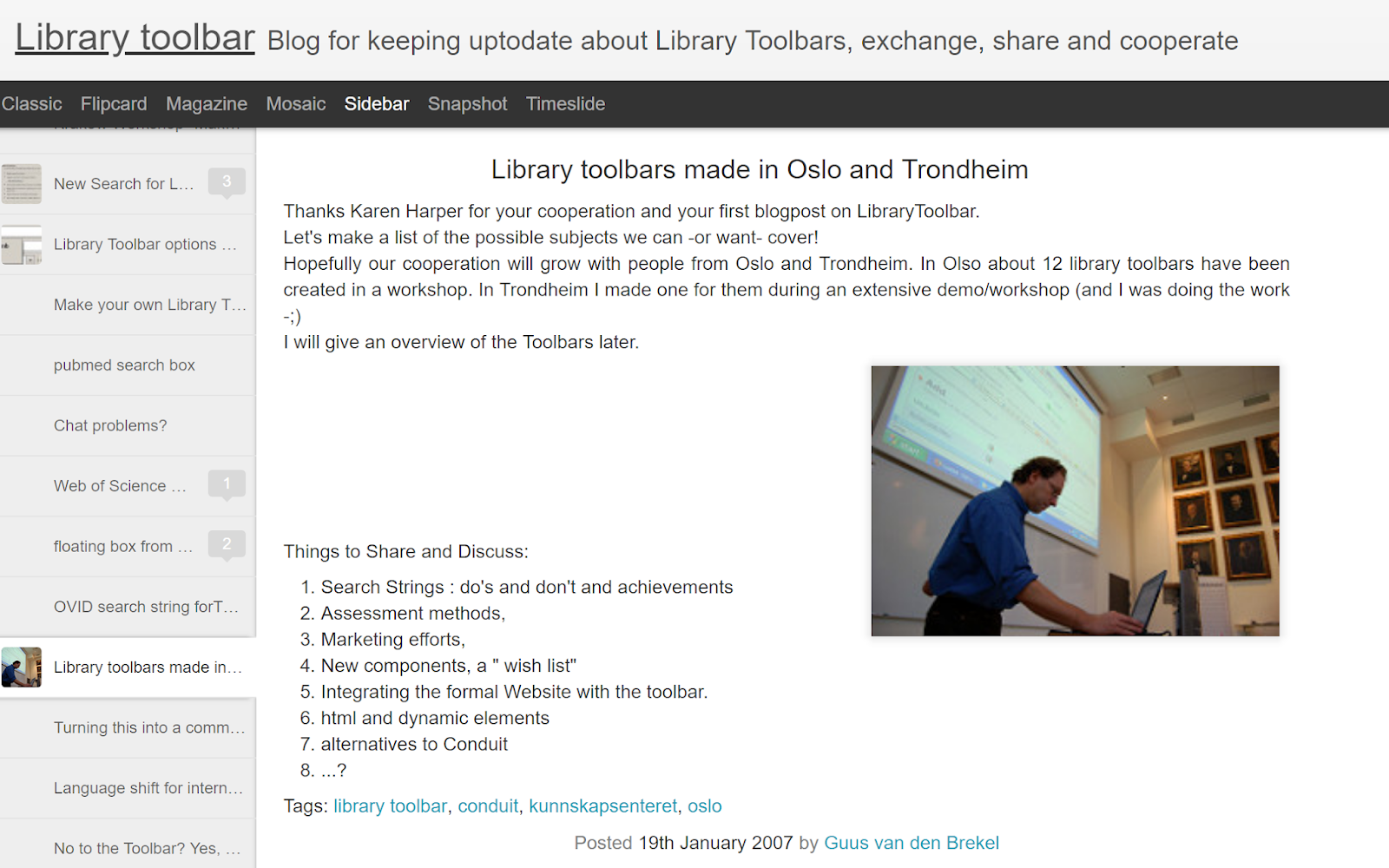 Musings about librarianship is 10 years old! Looking behind