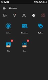BBM Mod DarkFution Theme Based v3.0.1.25 Apk DarkNavy Terbaru