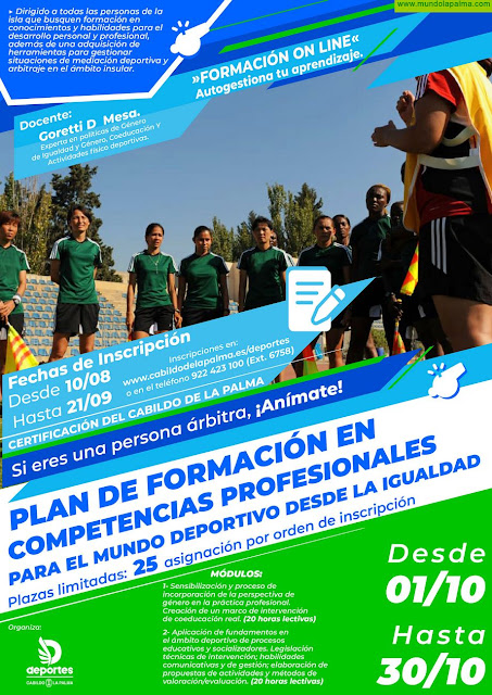 El Cabildo abre el plazo de inscripción para las jornadas de igualdad y mediación en el deporte