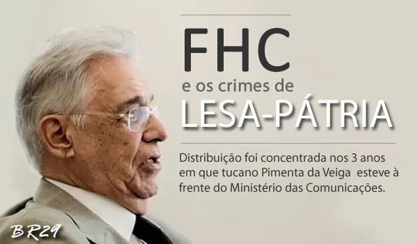Resultado de imagem para Crime de lesa-pátria de FHC.