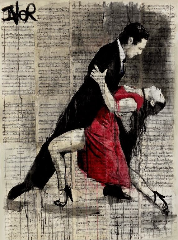 20-Midnight-Tango-Loui-Jover-Drawings-on-Book-Pages-www-designstack-co