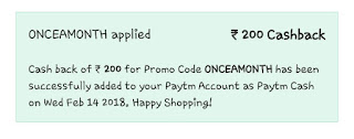 paytm shopping offer