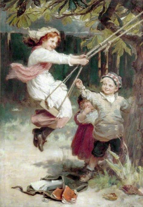 Depois da Escola - Frederick Morgan e suas pinturas ~ Pintor de cenas da infância