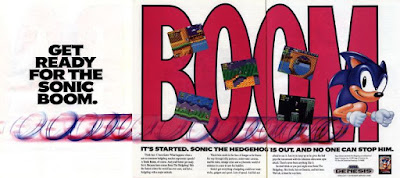 Publicidad Sonic the Hedgedog 1991