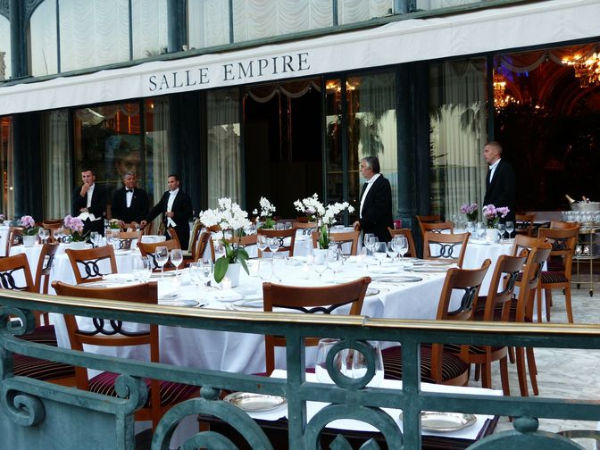 A café in Monaco