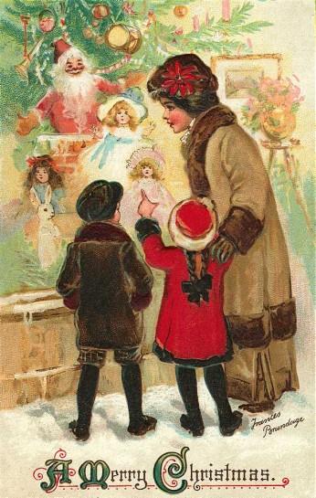 Carte postale ancienne Noël enfants