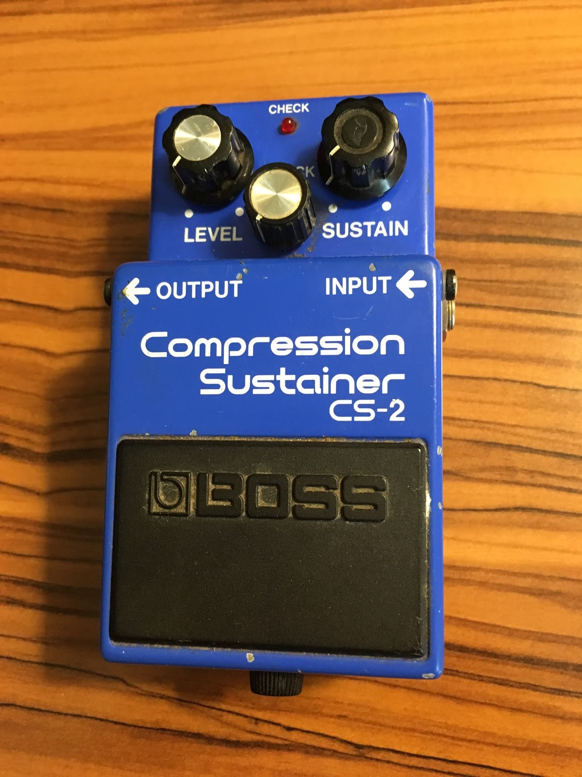 rex and the bass boss cs 2 compressor sustainer guitar effect pedal review. Black Bedroom Furniture Sets. Home Design Ideas