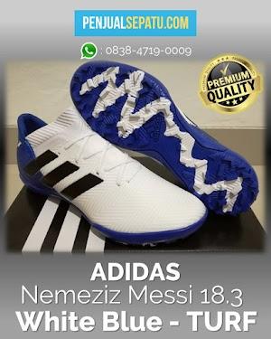 Futsal Adidas Nemeziz Messi 18.3 White Blue - TURF