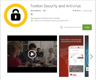 Application NOrton MObile Security