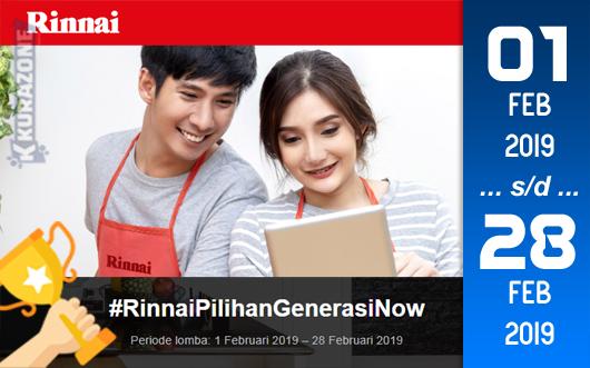 Kompetisi Blog - Rinnai Berhadiah Peralatan Masak Jutaan Rupiah (28 Februari 2019)
