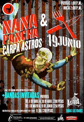 La Carpa Astros recibirá a Sekta Core y Nana Pancha