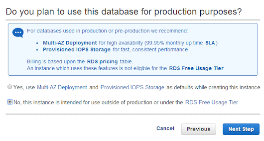 Kudos to RDS's SLA, proving the point of the public cloud