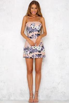 vestidos estampados de fiesta cortos