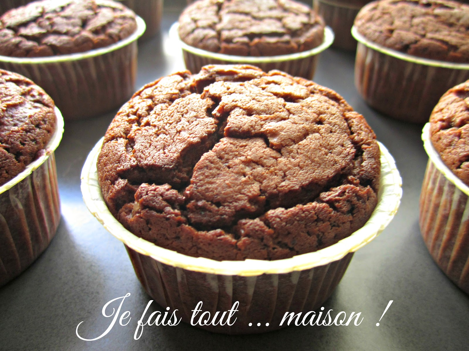 Muffins au chocolat ultra moelleux