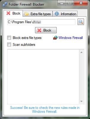 Folder Firewall Blocker 1.2.1 | Bloquea conexión a internet de archivos .exe y carpetas