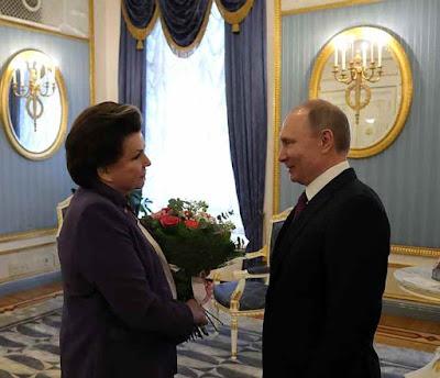 Vladimir Putin, Valentina Tereshkova.