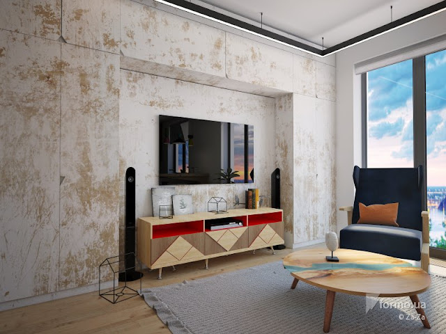 Blog Achados de Decoração - pequeno apartamento colorido
