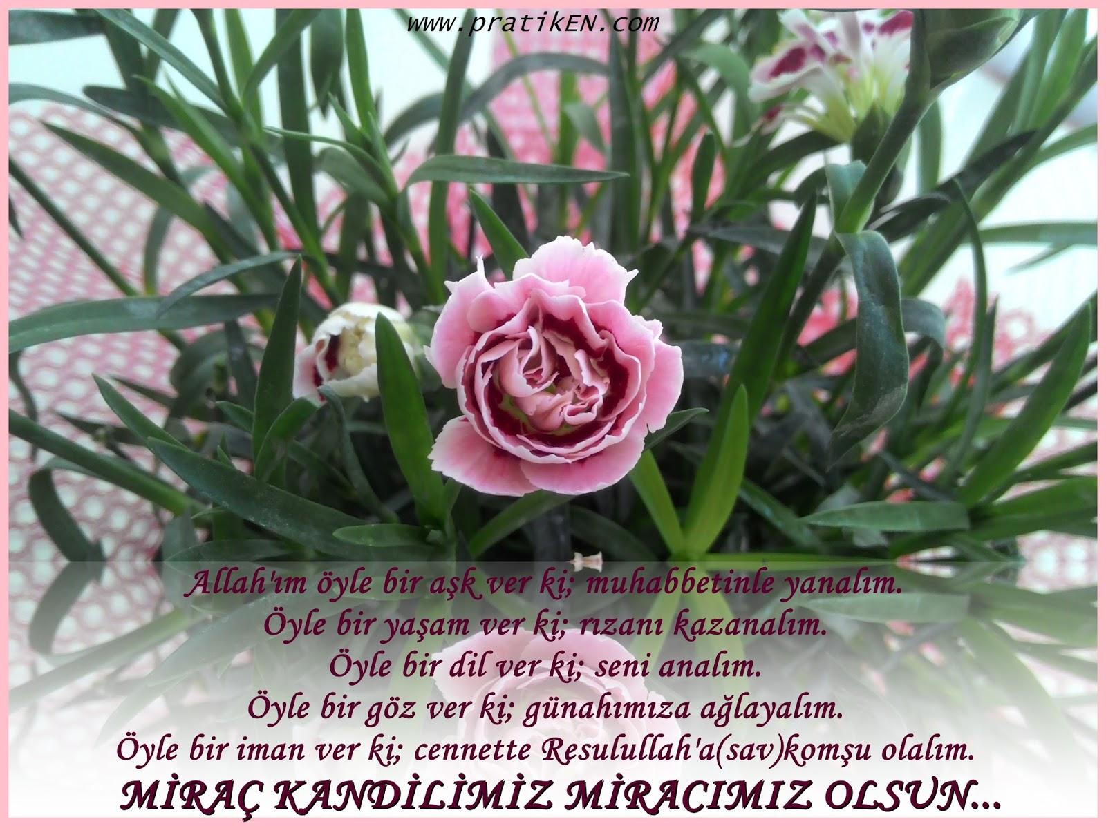 Miraç kandil duaları facebook paylaş