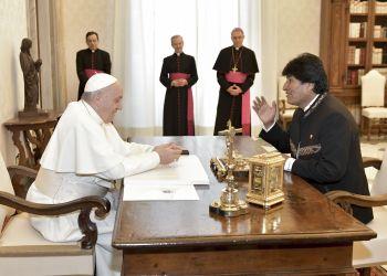 Morales se reunió con Francisco por quinta vez desde 2013, incluyendo llegada del papa a Bolivia