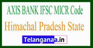 AXIS BANK IFSC MICR Code Himachal Pradesh State