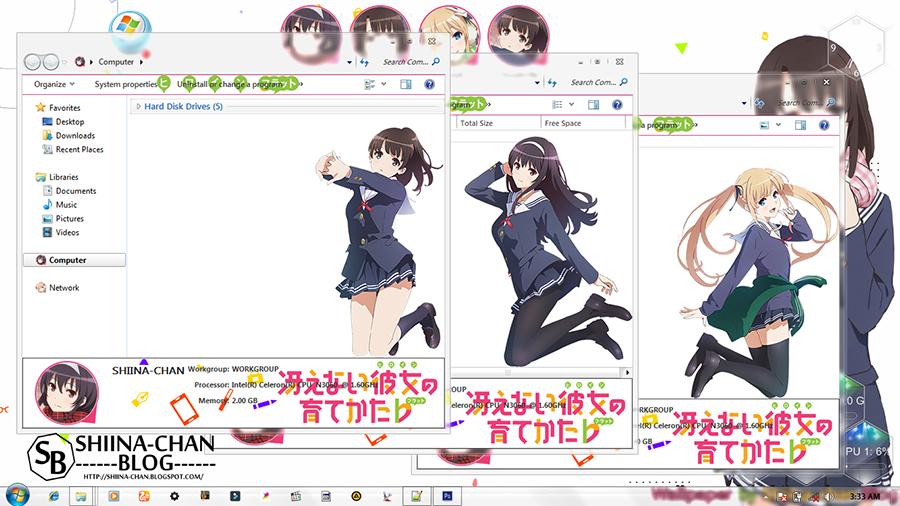 WIndows 7 Theme Saenai Heroine no Sodatekata by Shiina-chan Blog 3