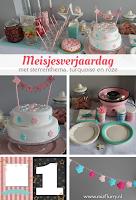 Meisjesverjaardag - sterrenthema met turquoise en roze