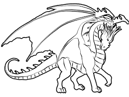 Printable Dragon Coloring Sheet For Kids Online